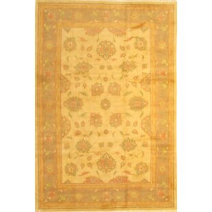 Persian Sultanabad Hand Knotted Wool Yellow Area Rug