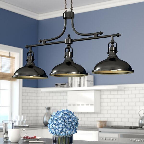 Kitchen Island Lighting With Matching Chandelier: Beachcrest Home Martinique 3-Light Kitchen Island Pendant