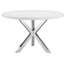 White Round Dining Table modern round dining + kitchen tables | allmodern