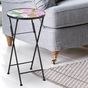 Glass Top End Table by Adeco Trading