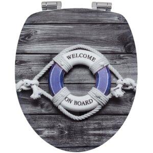 Harter WC-Sitz Sailing Länglich von Sanwood