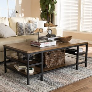 Pilning Rustic Industrial Style Coffee Table by Gracie Oaks