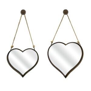 2 Piece Heart Shape Wall Mirror