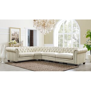 Lizete Leather Sectional by Willa Arlo Interiors