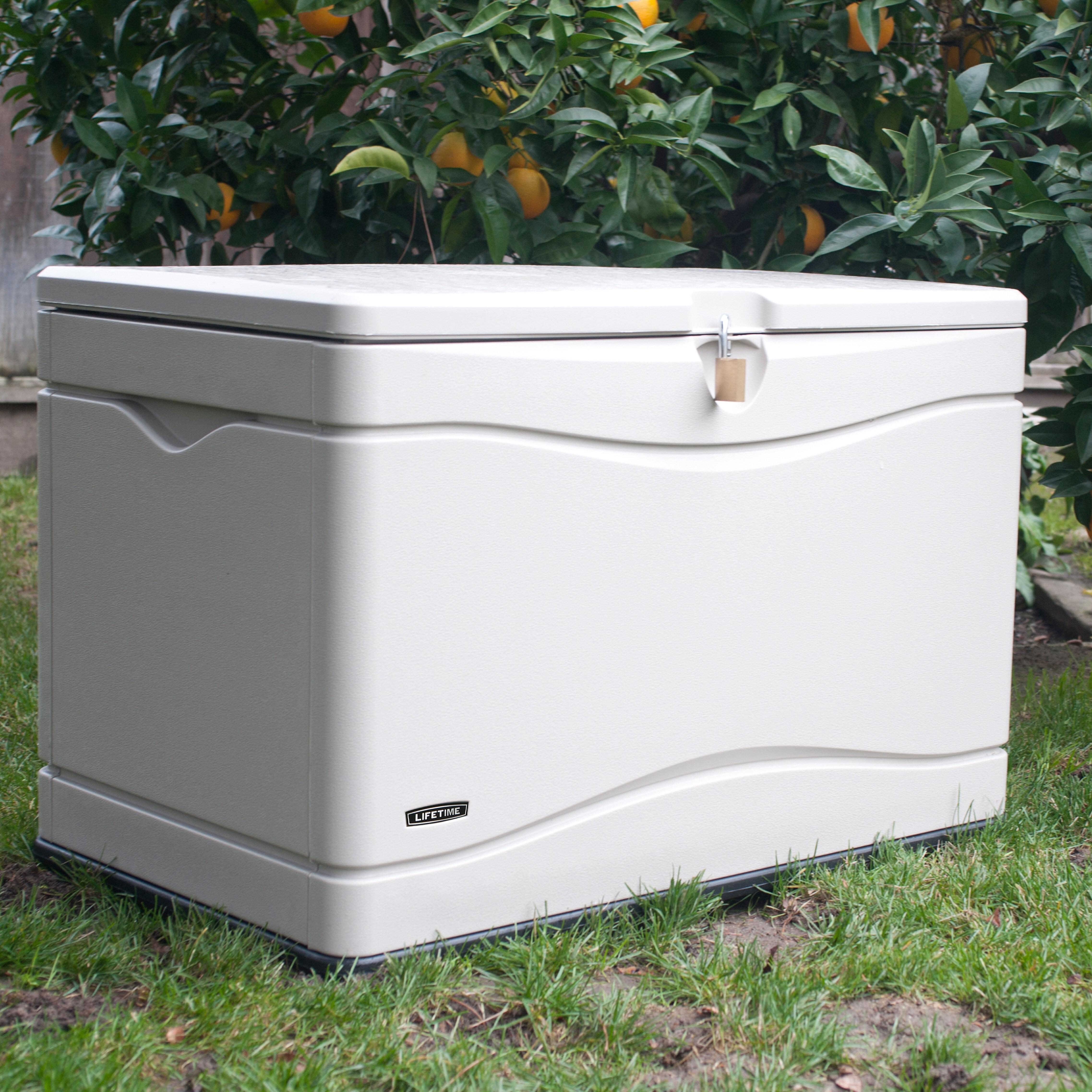 Bon Outdoor Storage 80 Gallon Plastic Deck Box