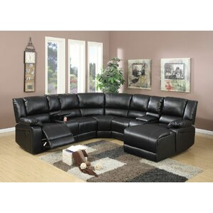 Reclining Sectional. Black