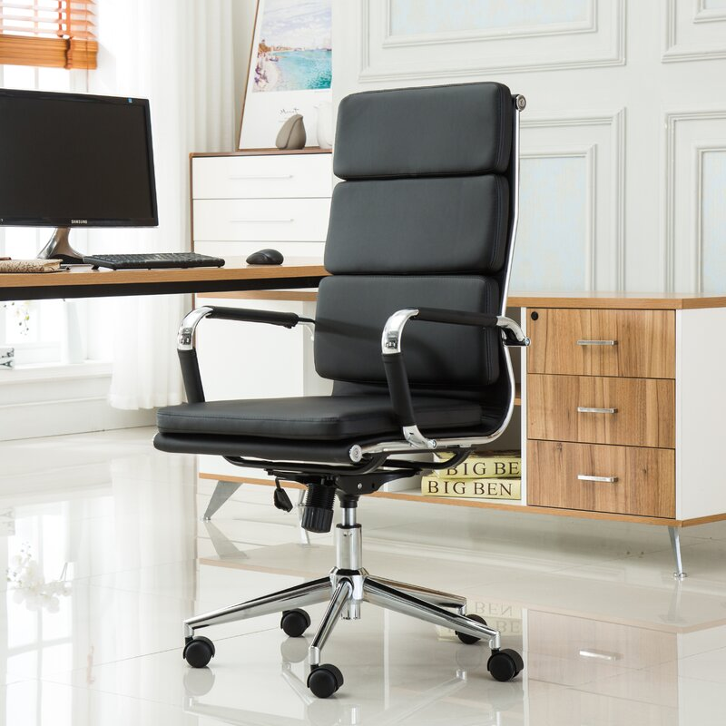 Modica Contemporary High Back Office Desk Chair