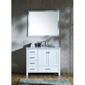 Marine 43 Single Bathroom Vanity Set with Mirror