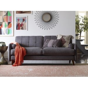 Natalie Mid-Century Modern Loveseat by Elle Decor