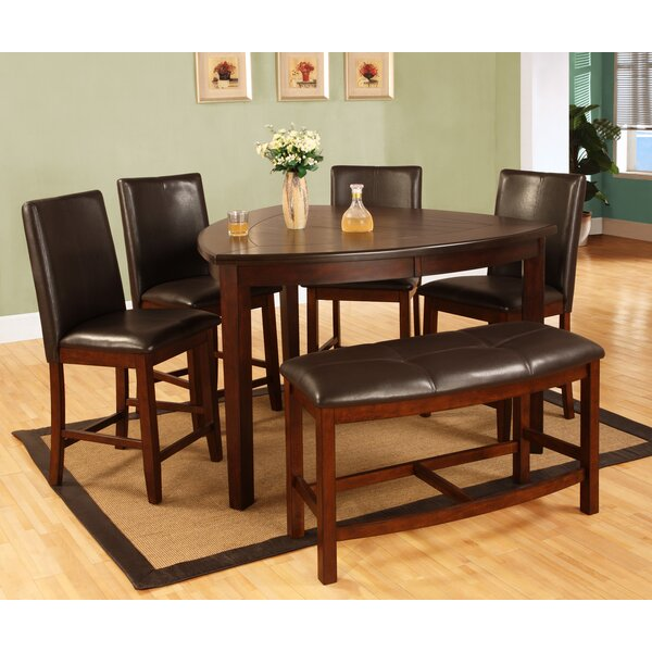 Best Quality Furniture 6 Piece Counter Height Dining Set U0026 Reviews | Wayfair
