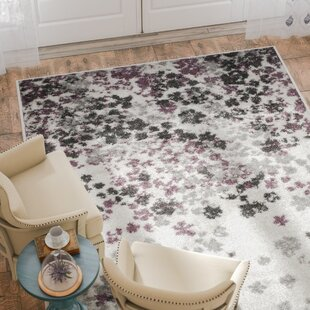 Ales Ivory/Gray/Purple Area Rug