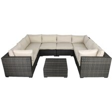 Lara 9 Piece Sectional Seating Group with Cushions