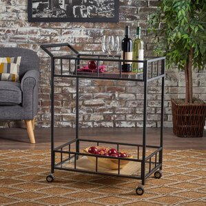 Beeler Indoor Iron Bar Cart by Ebern Designs