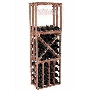 Karnes Redwood Lattice Stacking Cube 45 Bottle Floor Wine Rack