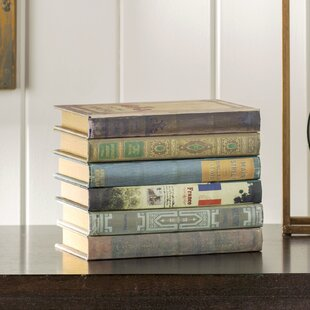 6 Piece Wood Book Box Set & Storage Book Box | Wayfair