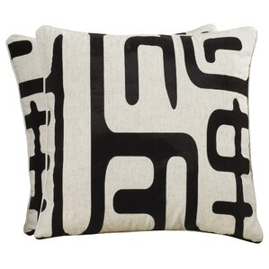 Linen/Cotton Blend Throw Pillow (Set of 2)