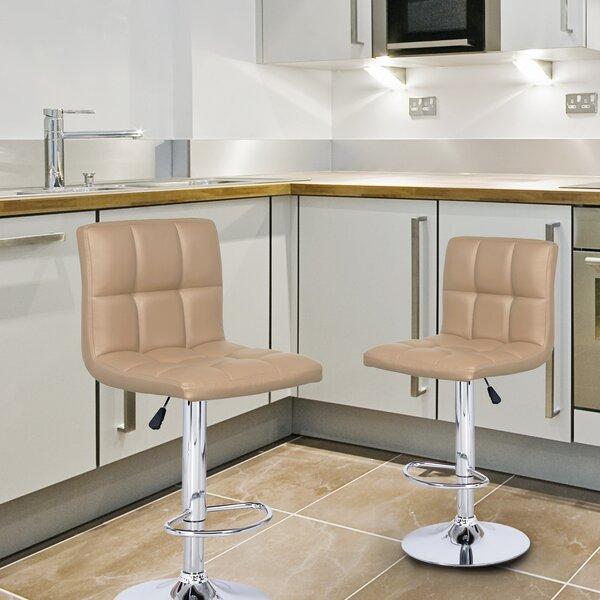 Brayden Studio Sandidge Adjustable Height Swivel Bar Stool