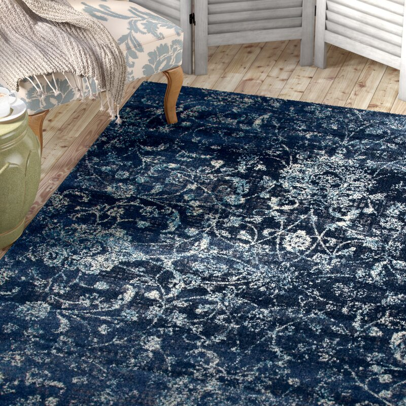 Devay Fl Steel Blue Area Rug