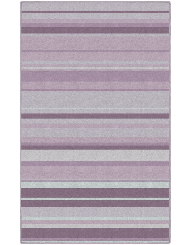 Winston Porter Laisha Traditional Pastel Striped Purple Area Rug, Size: Rectangle 76 x 10