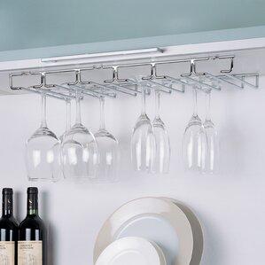 shelf hanging wine glass rack