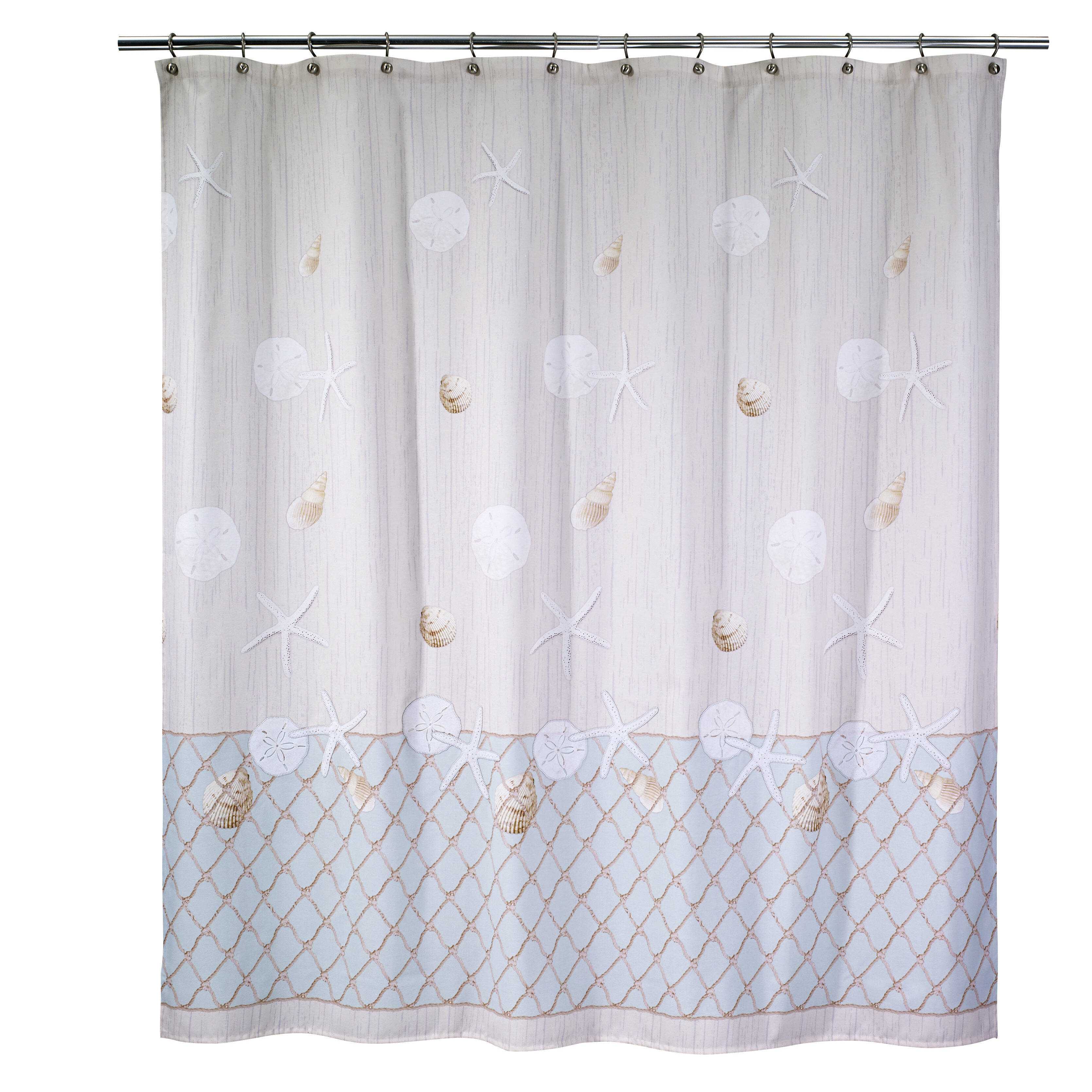 Avanti Linens Seaglass Cotton Shower Curtain Reviews