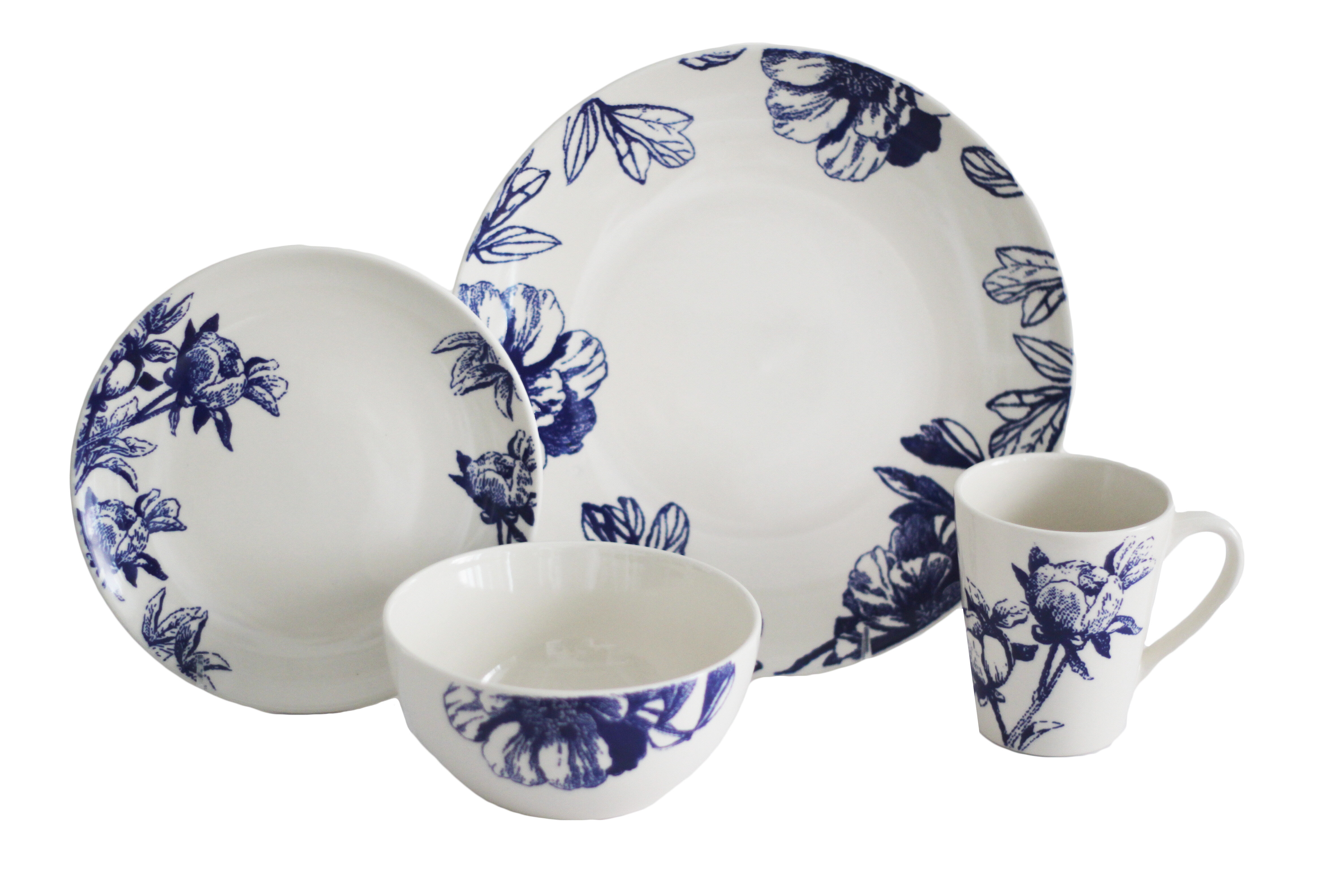 sc 1 st  Joss u0026 Main & Botanical 16 Piece Dinnerware Set Service for 4 | Joss u0026 Main