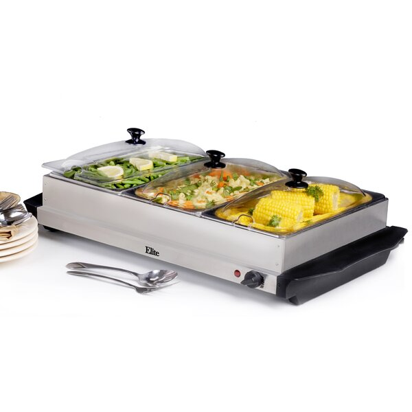 Elite by Maxi-Matic Platinum 7.5 Qt. Stainless Steel Electric Buffet Server  & Reviews | Wayfair - Elite By Maxi-Matic Platinum 7.5 Qt. Stainless Steel Electric