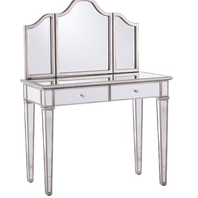 vanity lights on table bedroom with mirror condo modern vintage