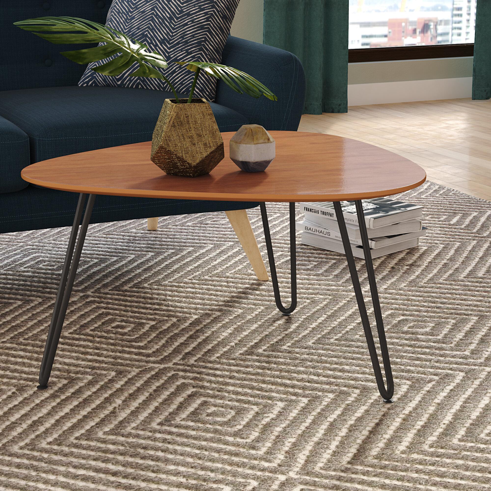 Labarge Hairpin Leg Wood Coffee Table