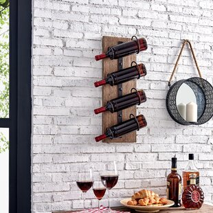 Newby Cooper 4 Bottle Wall Mounted Wine Rack