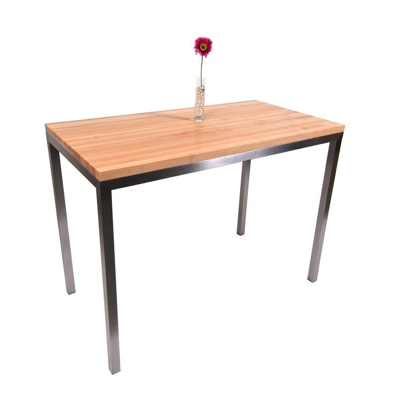 John Boos Metropolitan Designer Prep Table With Wood Top