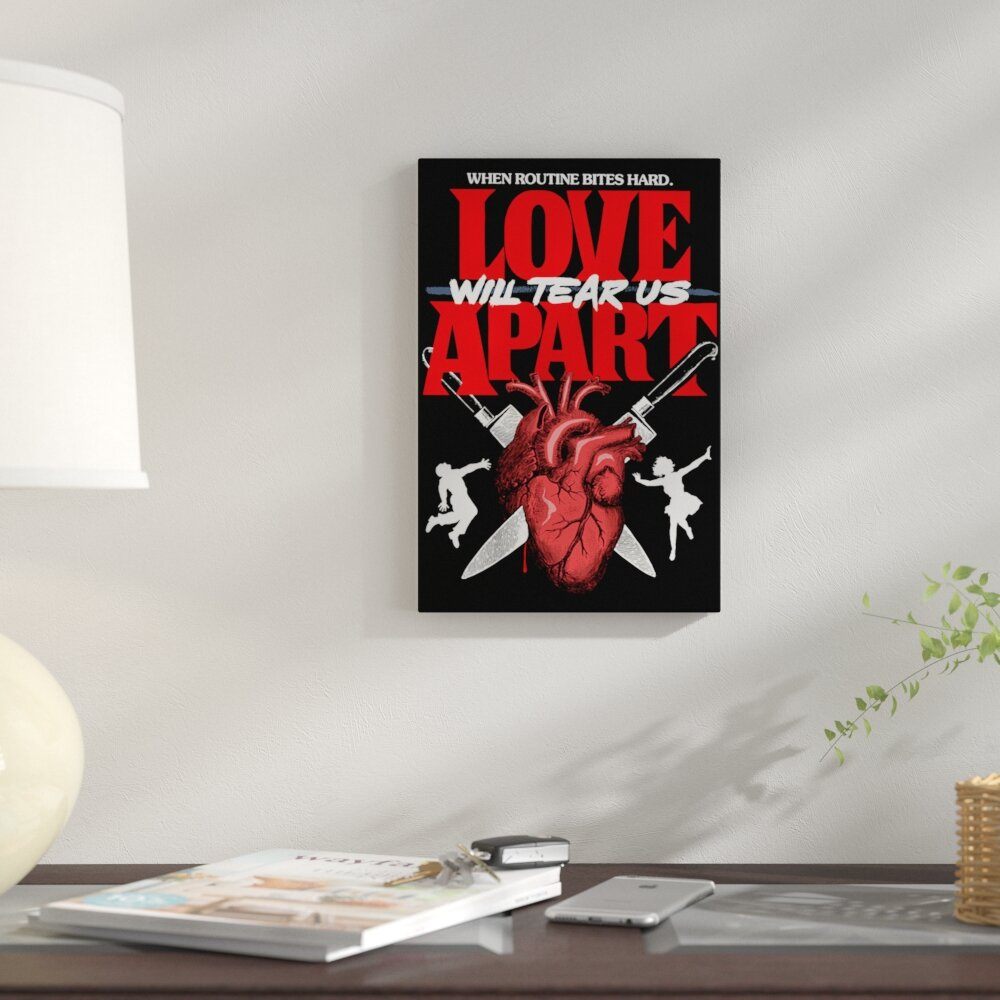 Tearing Apart: East Urban Home 'Love Will Tear Us Apart' Graphic Art