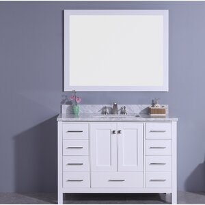 Bluebird 49 Single Bathroom Vanity Set with Mirror