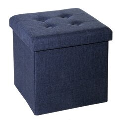 Zipcode Design Zosia Tufted Foldable Storage Cube Ottoman