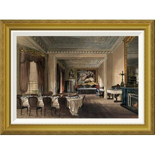 U0027The Dining Room, Osborne Houseu0027 By James Roberts Framed Painting Print