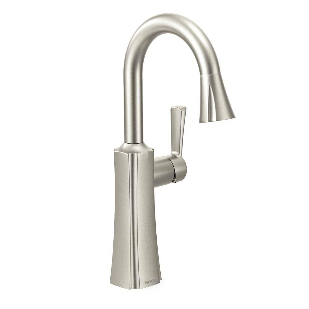 Moen Etch Pull Down Single Handle Kitchen Faucet Reviews Wayfair