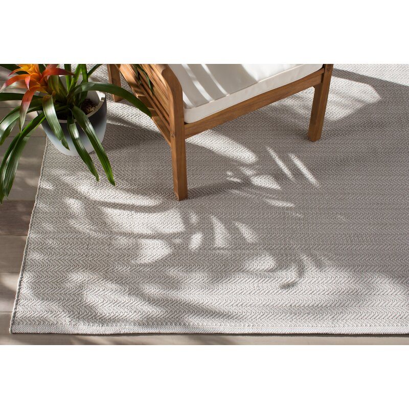 C3 Herringbone Gray Indoor Outdoor Area Rug