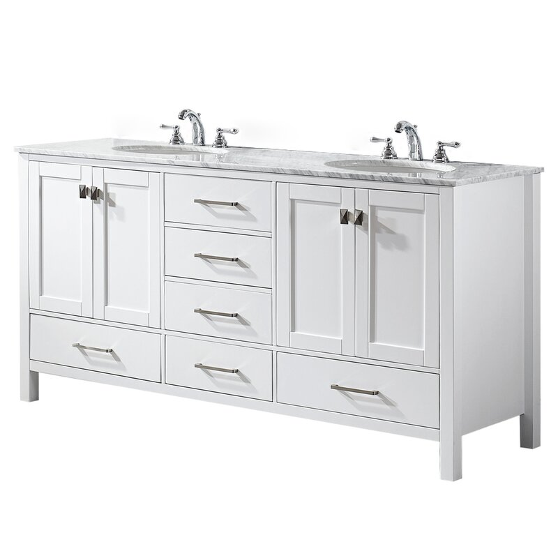 Newtown 72 Double Bathroom Vanity Set Reviews Joss Main