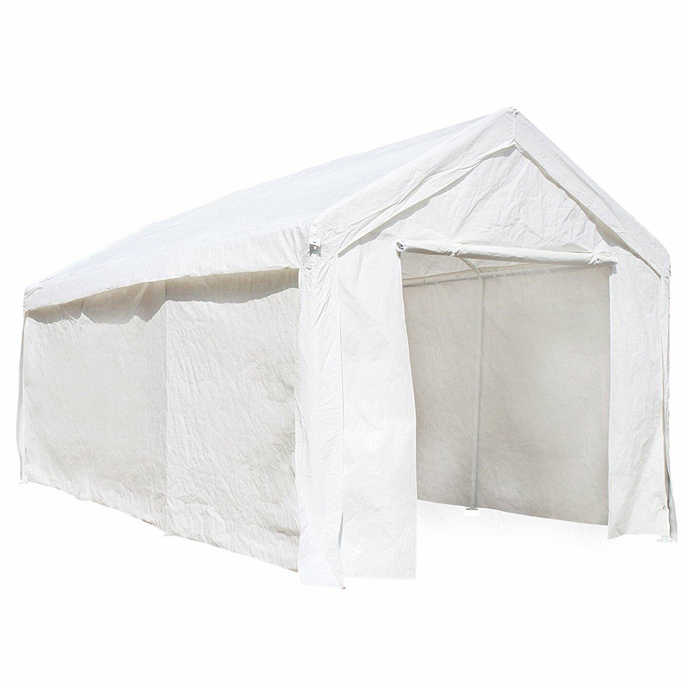 ALEKO Heavy Duty Outdoor 10 Ft. W x 20 Ft. D Metal Party Tent ...