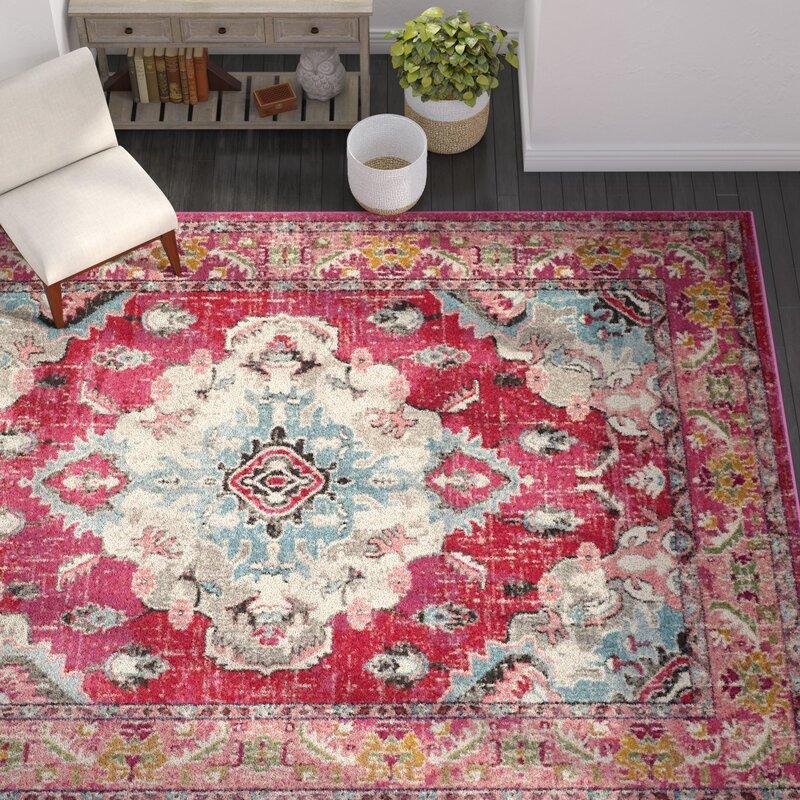 Mistana Elston Pink Area Rug & Reviews | Wayfair