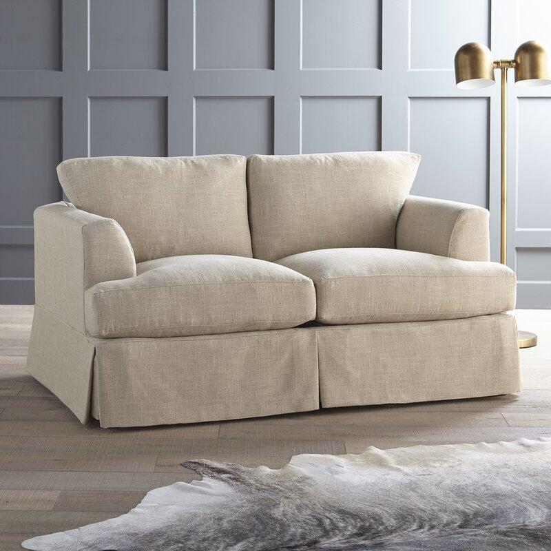 living fabric linen sofa blue modhaus loveseat arm modern products swoop large light