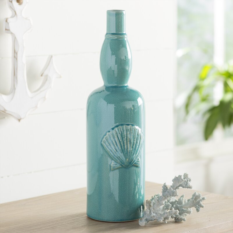 Highland Dunes Arev Ceramic Seashell Vase Wayfair