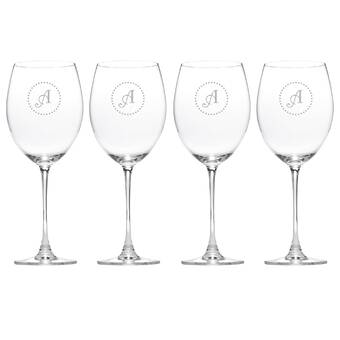 a23691f0454 Lenox Tuscany Monogram Grand Bordeaux 27 oz. Crystal All Purpose Wine Glass  (Set of 4)