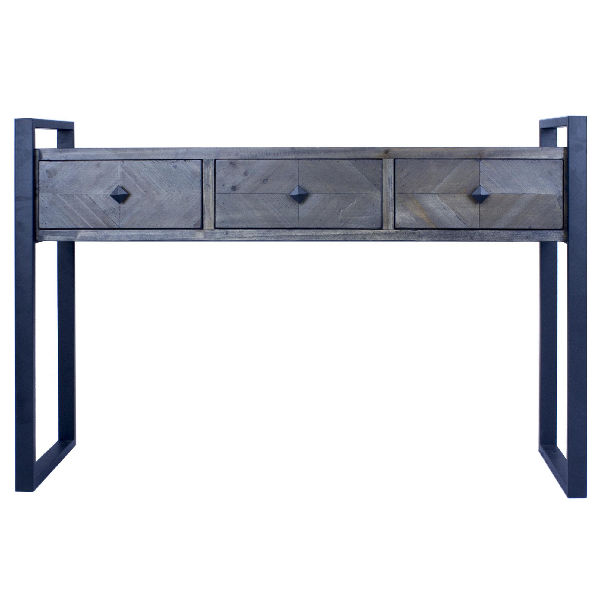 Phenomenal Delphine 3 Drawer Console Table Interior Design Ideas Oxytryabchikinfo