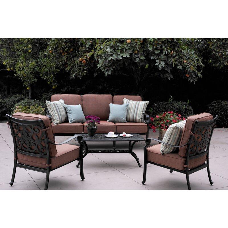 Astoria Grand Mccraney 4 Piece Sofa Set with Cushions & Reviews ...