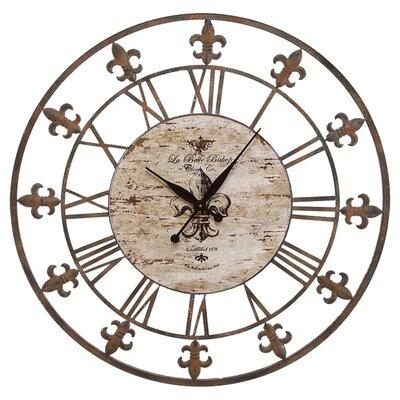loire round oversized wall clock