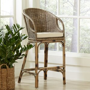 Augustine Rattan Bar Stool by Birch Lane?