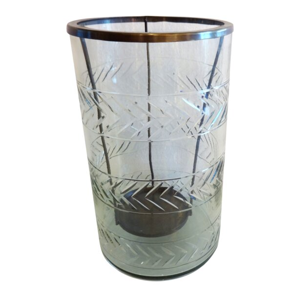 Etched Glass Hurricane Wayfair