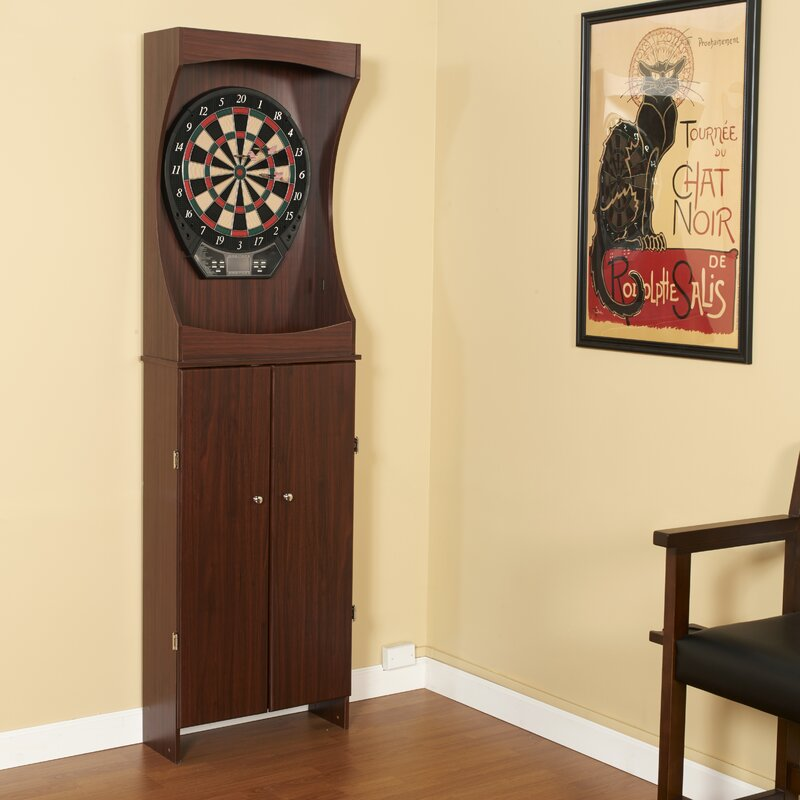 Outlaw Free Standing Dartboard And Cabinet Set