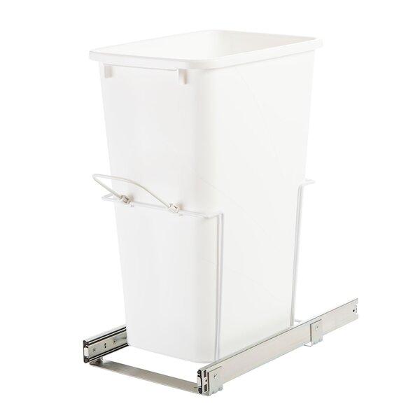 Kitchen Impressive Tilt Out Kitchen Trash Can Cabinet: Knape&Vogt Plastic 12.5 Gallon Pull Out/Under Counter